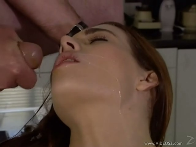 Aimee gets fingered and fucked hard on the kitchen table (with anal)