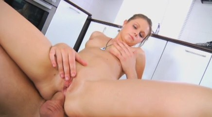 Small Liza gets her sweet ass penetrated. MUST SEE!