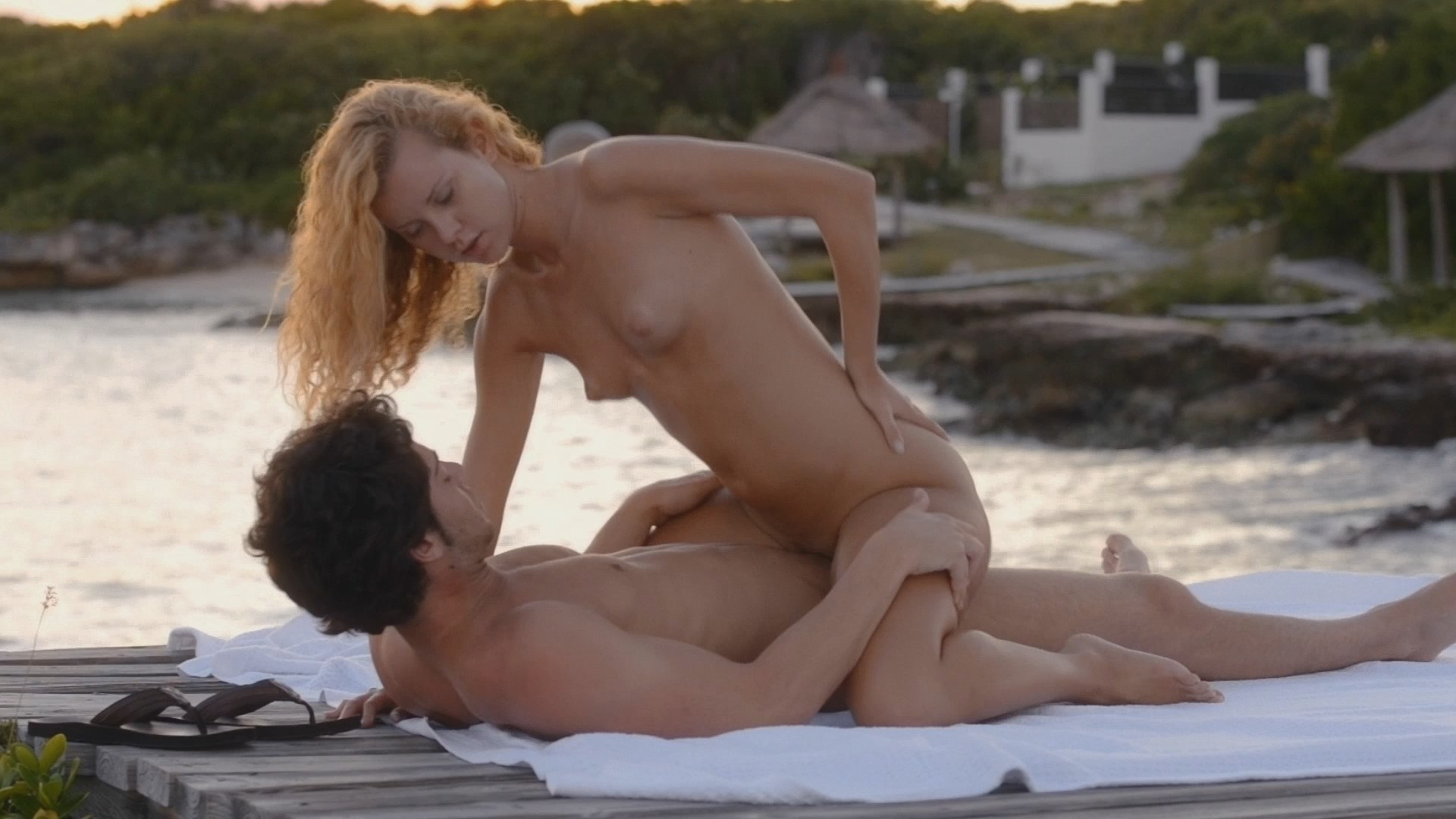 Hot fuck by the shore. MUST SEE!