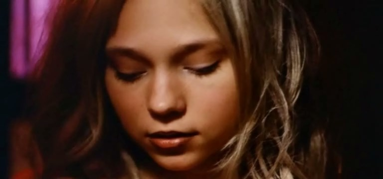 Adorable teenage actress. Scenes from the movie