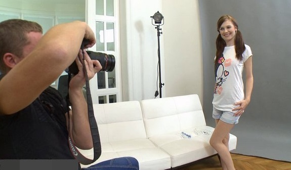 Adorable Manuela fucked hard on casting