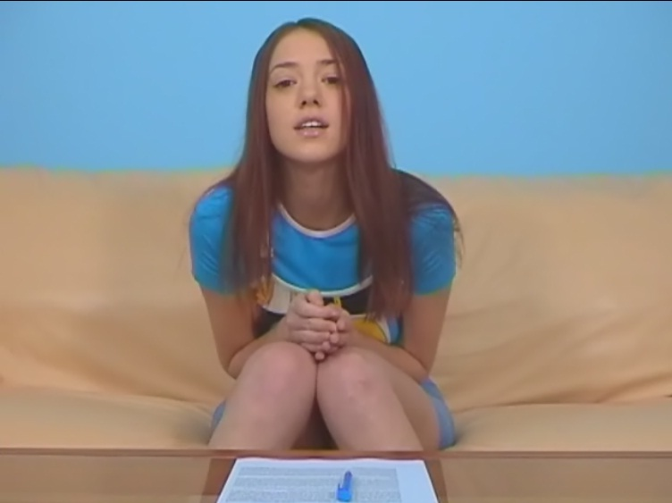 Anal casting with adorable teenage cutie