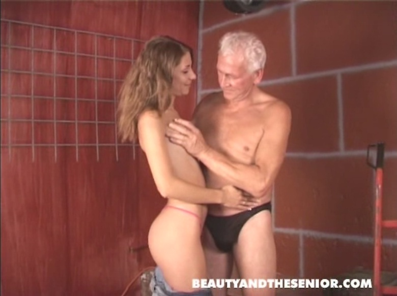 Young meat for old lucky bastard. MUST SEE!