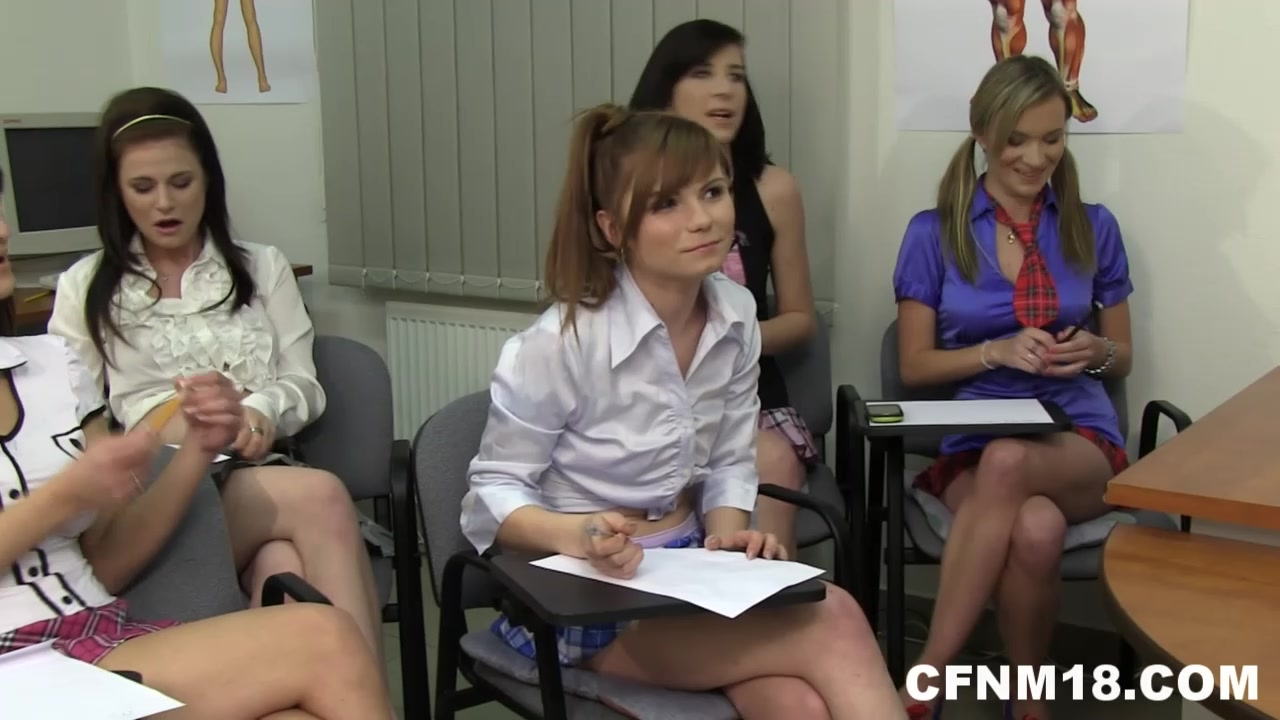 Anatomy classes with cute naughty students. MUST SEE!