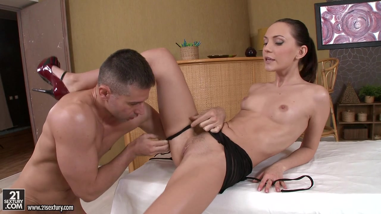 Chantal gets cunt penetrated in various positions