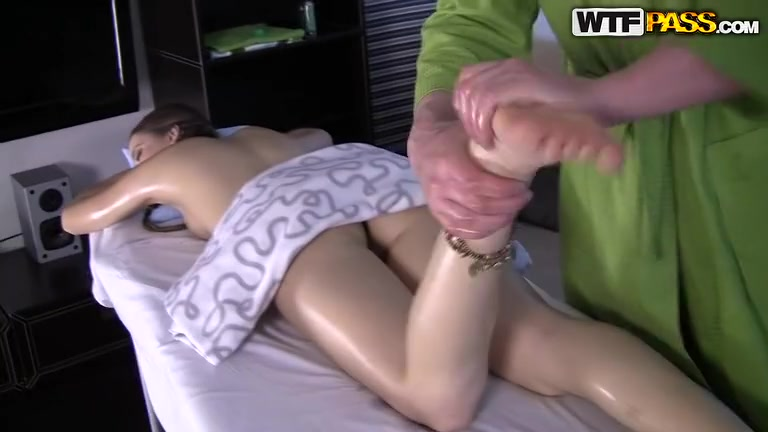 Young cutie massaged and fucked hard