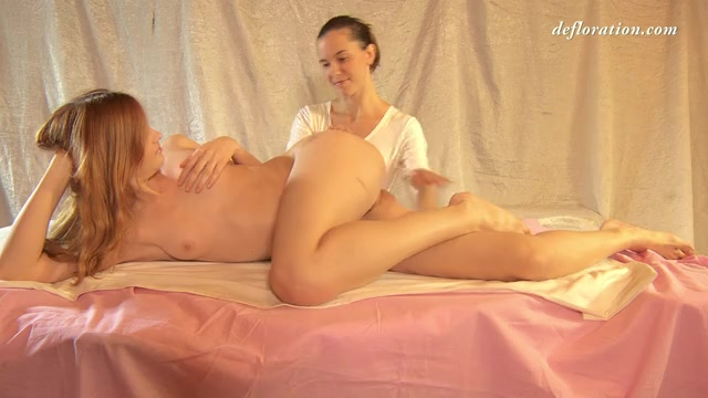 Massage of beautiful russian virgin