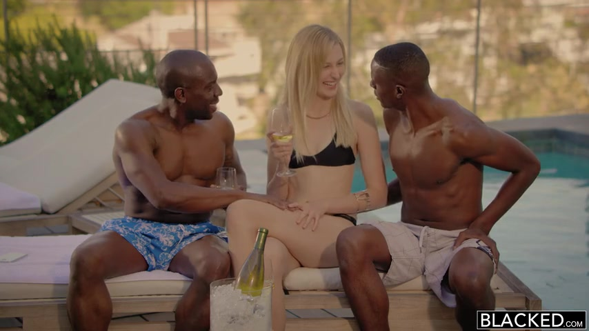 Alexa Grace - Shy Blond Girlfriend First Threesome With Black Men Blacked