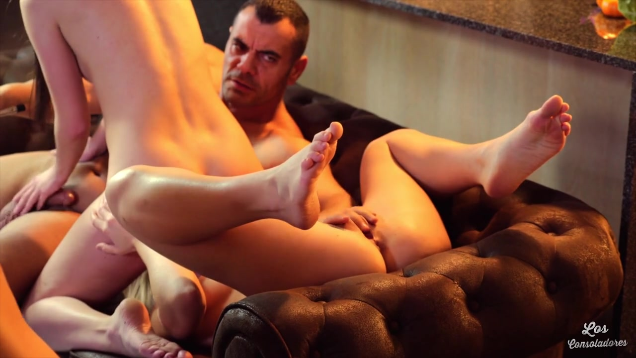 Sicilia, Antonio Ross, Andy Stone - Blonde Hungarian Sicilia and Andy Stone give a consolation foursome fuck