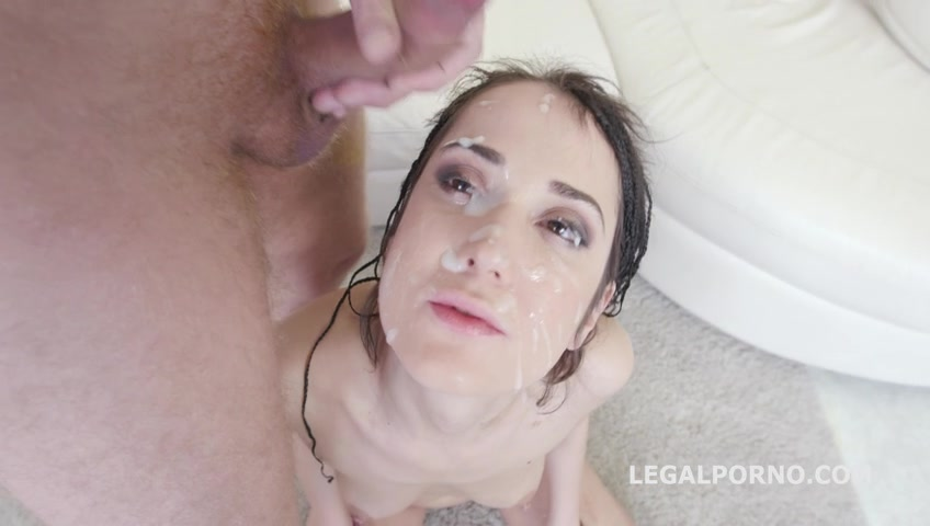 Angie Moon - 7 On 1 Facialized Angie Moon GangBang With Anal. She Gets It Deep