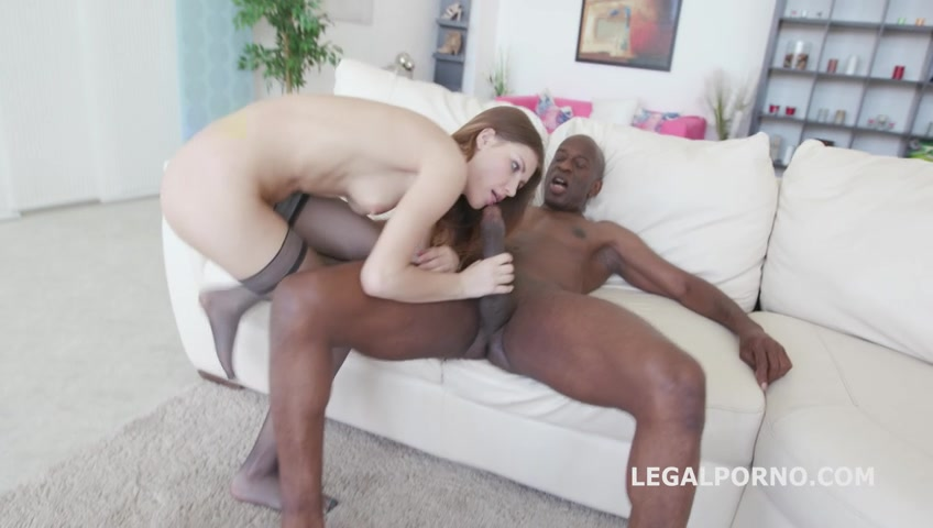 Ginger Fox - Black Buster, Ginger Fox gets gapes non stop with Mike Chapman