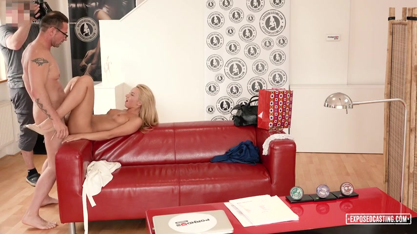 David Perry, Katrin Tequila - Sexy Russian blondie Katrin Tequila gets cum on ass in hot hard casting