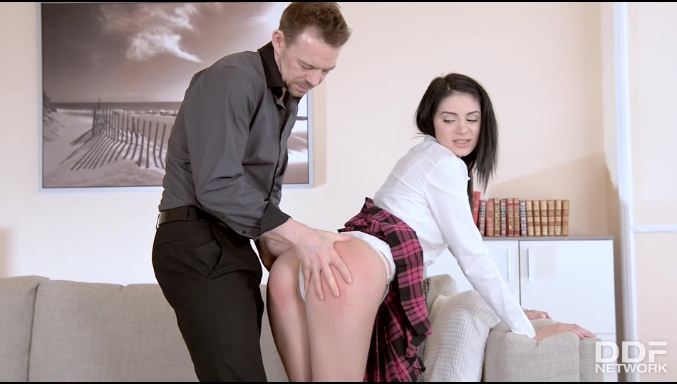 Delia - Punished Pussy: Naughty Schoolgirl Spanked and Fucked