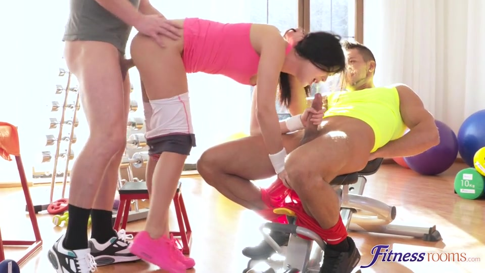 Lady Dee - Two cocks workout for hot fit teen
