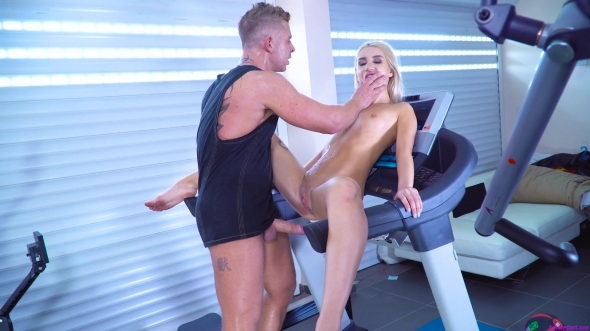 Katrin Tequila - Enjoys hard pumping in the gym