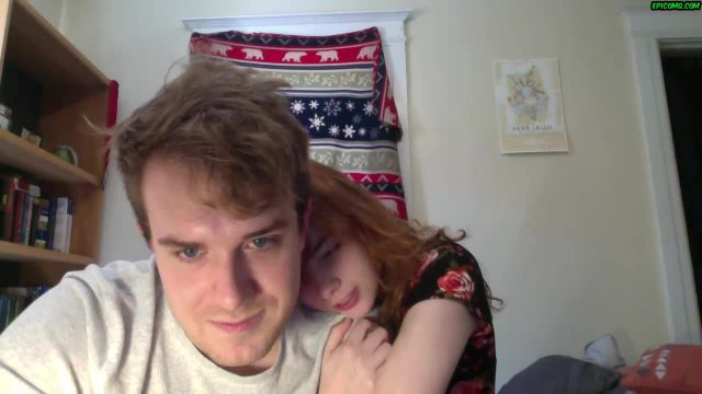 Innocent Ginger teen Rose and Michael first experience on cam