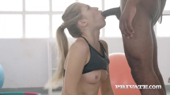 Mary Kalisy - Interracial fuck in the gym