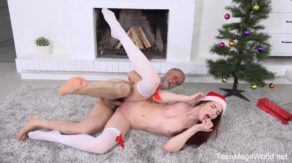 Lovenia Lux - Ginger elf finds a dildo under Christmas tree