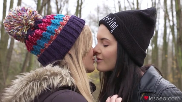 Anie Darling, Lucette Nice - Sweet Euro teen lesbian romance