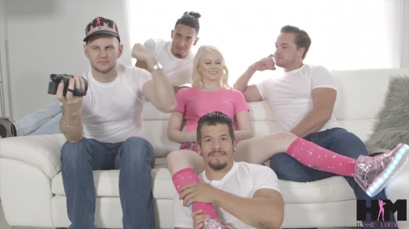 Lily Rader - Hot blonde Lily Raders exclusive first ever gang bang