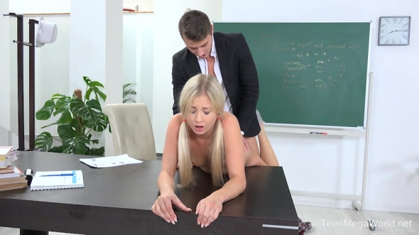 Karolina - Blonde babe gets help and orgasm
