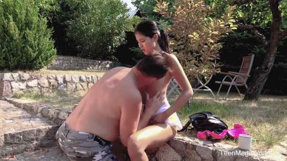 Lady Dee - Sun, garden, hard sex and orgasm