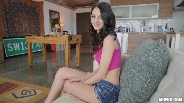 Paisley Pepper - Tiny Babe Rides Dick Around The Room