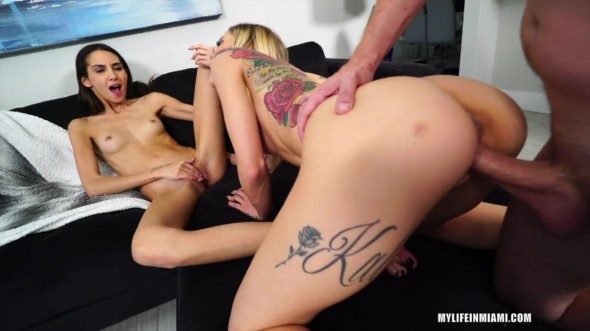 Kali Roses & Natalia Nix - Kali Roses And Natalia Nix Are Hungry For A Big Cock To Share