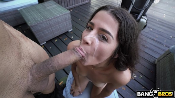 She deep throats his dick like a pro and gets hot jizz all over her face 1080p