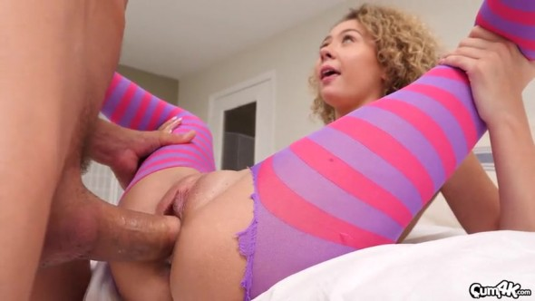 Sweetheart gets fucked and creampied on Halloween