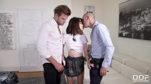 Petite girl double teamed 1080p