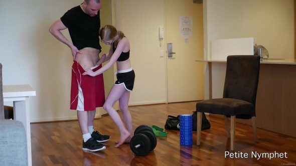 Personal trainer for petite girl 1080p