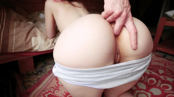 Teen girl gets her ass fucked until she cums 720p