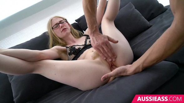 This cock is too big for this petite girl 720p