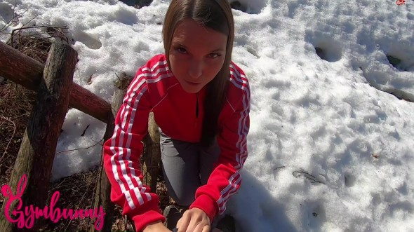 Student girl outdoor penetration 1080p