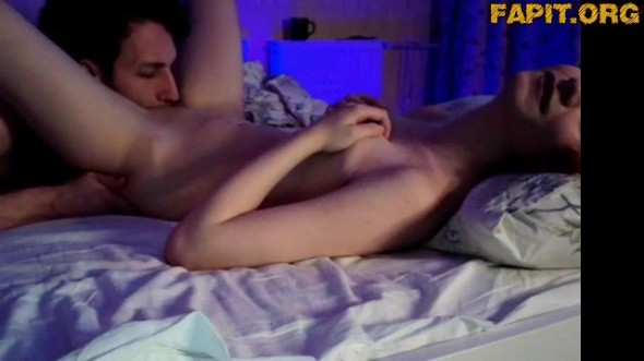 Very passionate and various sex with 18 skinny girl