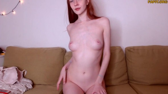 Light naked show from 19 yo Milky