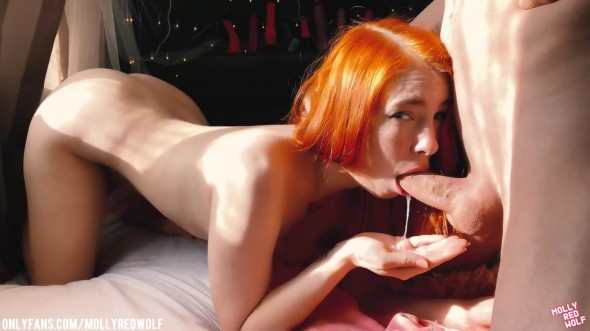 Blue eyed redheaded perfection fantastic blowjob 1080p