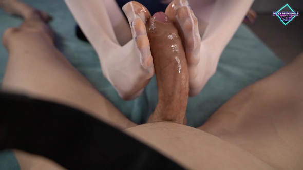 Girl making magic with his cock 1080p