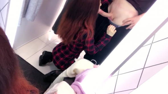Public blowjob in fitting room 1080p