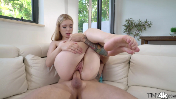 Little blonde girl gets fucked by a big cock and facialed 1080p